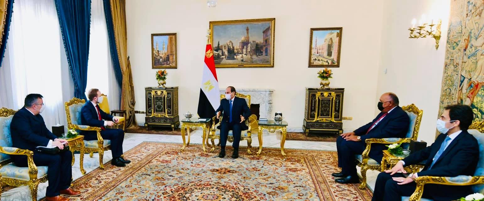 استقبل السيد الرئيس عبد الفتاح السيسي اليوم السيد جاكوب كولهانيك وزير خارجية جمهورية التشيك