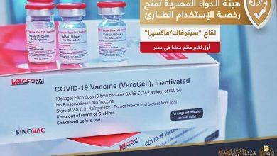 Photo of هيئة الدواء المصرية تمنح رخصة الاستخدام الطارئ للقاح سينوفاك/فاكسيرا أول لقاح ينتج محلياً لفيروس كورونا