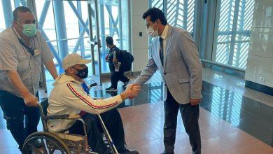 Photo of وزير الرياضة يستقبل البعثة المصرية البارالمبية بمطار القاهرة