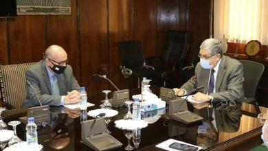 Photo of وزير الكهرباء والطاقة المتجددة يجتمع مع سفير قبرص بالقاهرة وذلك لمتابعة مستجدات مشروع الربط الكهربائى بين البلدين