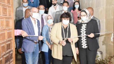 Photo of وزيرة الثقافة تفتتح معرضا وثائقيا وفنيا بمركز مختار الثقافي