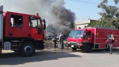 Photo of سيطرة المطافي علي حريق مصنع ورق بالقليوبية