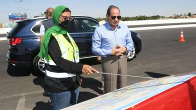 Photo of السيسي يتفقد اليوم الجمعة اعمال تطوير الطرق والمحاور الجديدة بالقاهرة الكبري